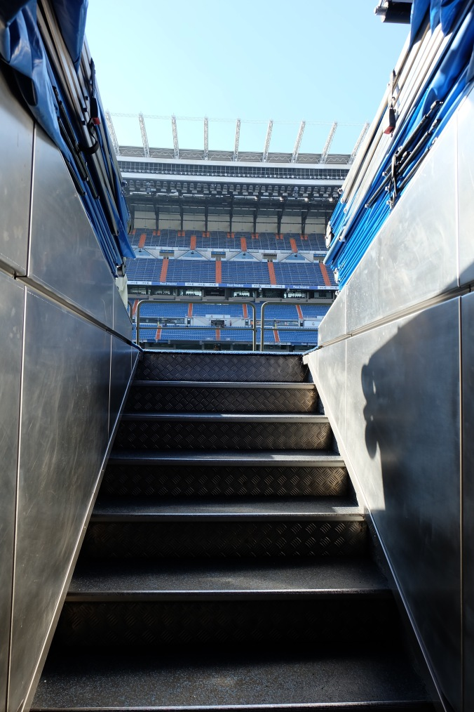Tunnel onto the field at Bernabéu