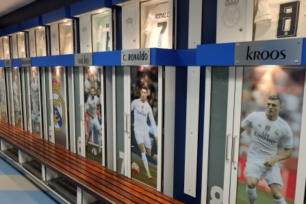 Real Madrid locker room