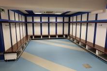 Visitors' locker room at Bernabéu