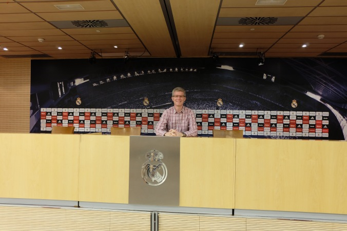At the Bernabéu media centre