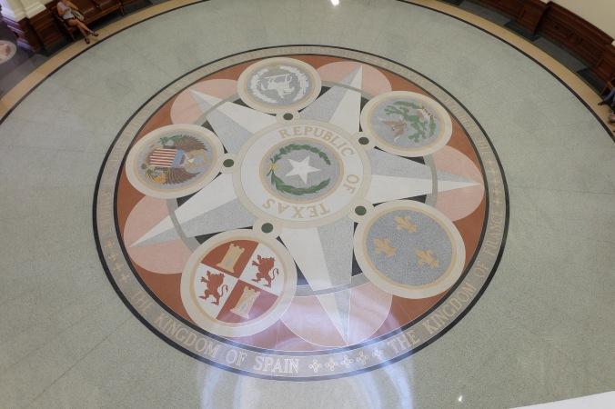 Rotunda floor in Texas State Capitol building