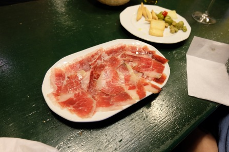 First Iberico ham at Sanlúcar