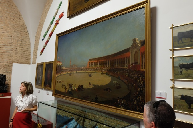 Painting in the museum at Plaza de Toros in Seville