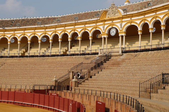 Inside the bullring in Seville