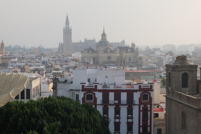 Seville Cathedral from the Metropol Parasol