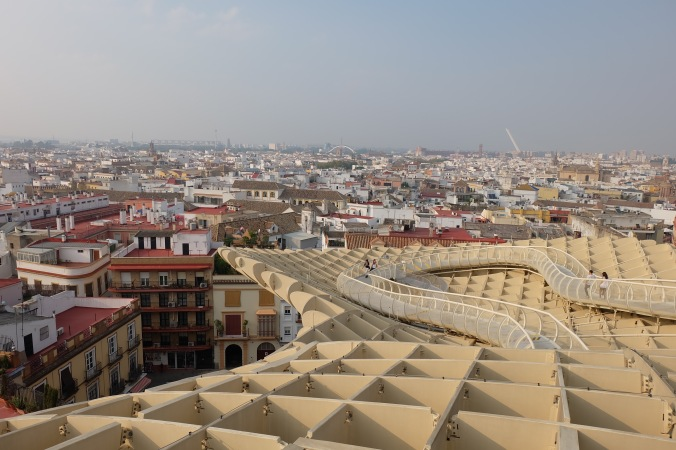 View from the Metropol Parasol in Seville