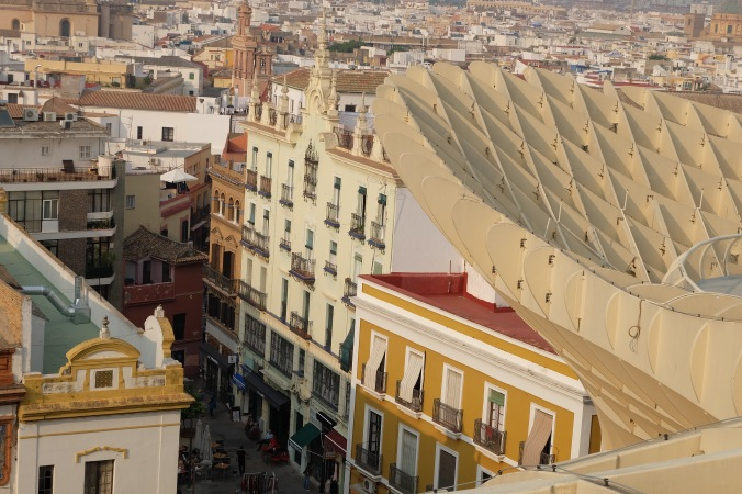 Looking down from the Metropol Parasol in Seville