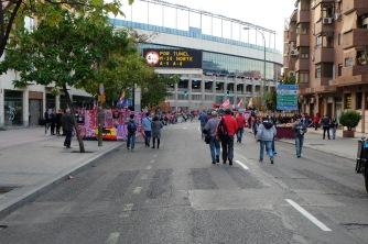 Walking to Estadio Vicente Calderón