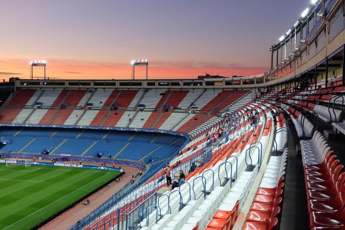 Sunset at Estadio Vicente Calderón