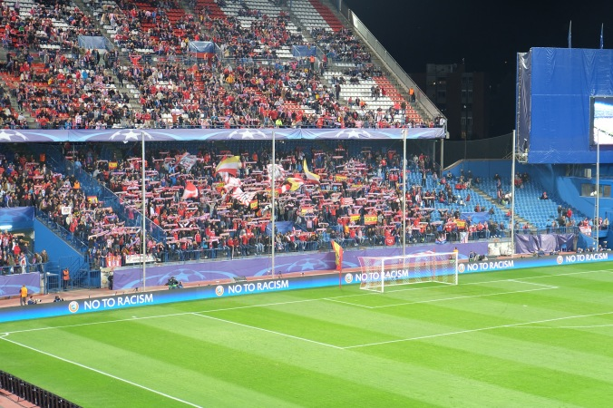 Atletico Madrid supporters section