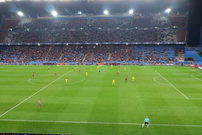 View of match from our seats in Estadio Vicente Calderón