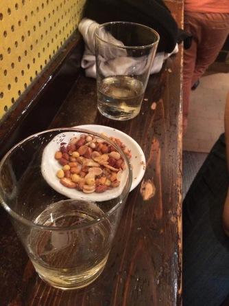 Snacks and txacoli at Lamiak