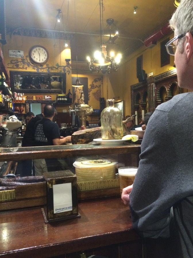 At the bar at Taberna Alhambra