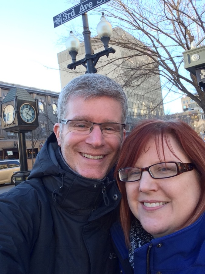 Us in downtown Saskatoon