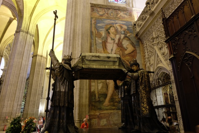 Tomb of Columbus in Seville Cathedral