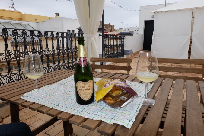 Wine on the roof in Seville