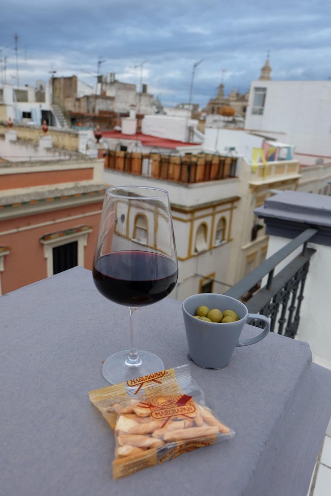 Tapas on the roof in Seville