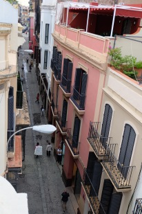 View from our roof in Seville