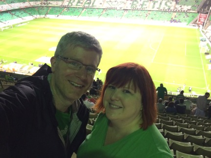 Us at the Real Betis match