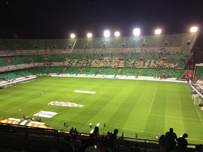 Inside Estadio Benito Villamarín in Seville