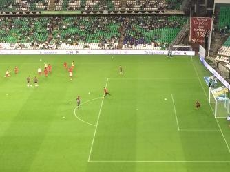 RCD Espanyol warming up