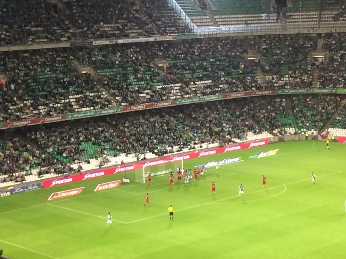 Betis about to score their first goal