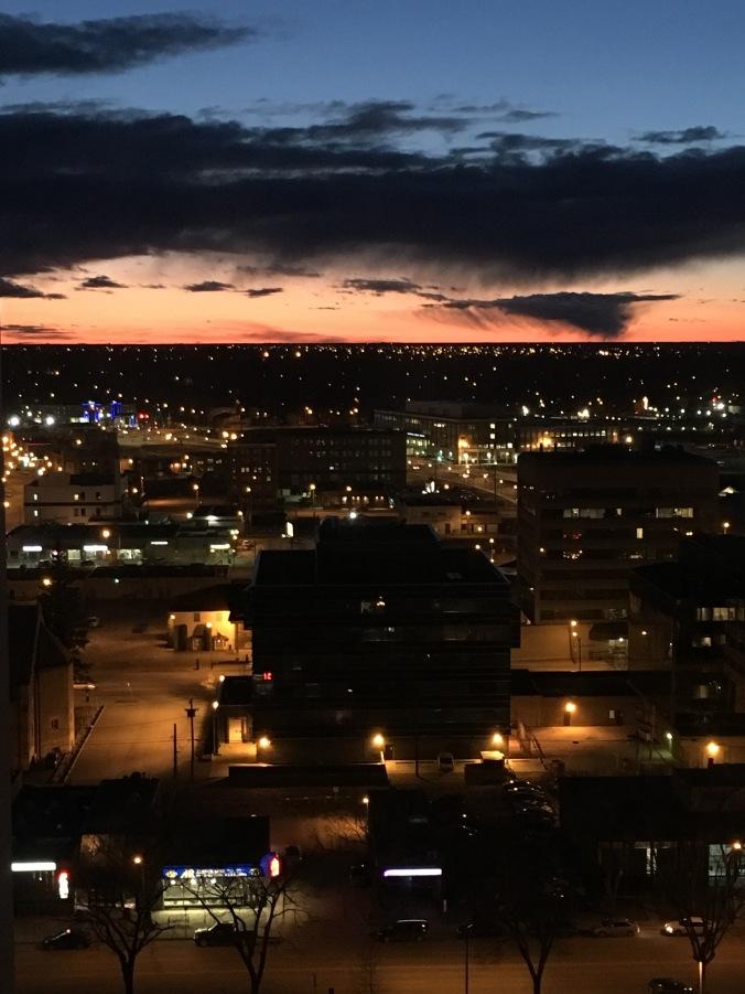 Saskatoon sunset from my apartment