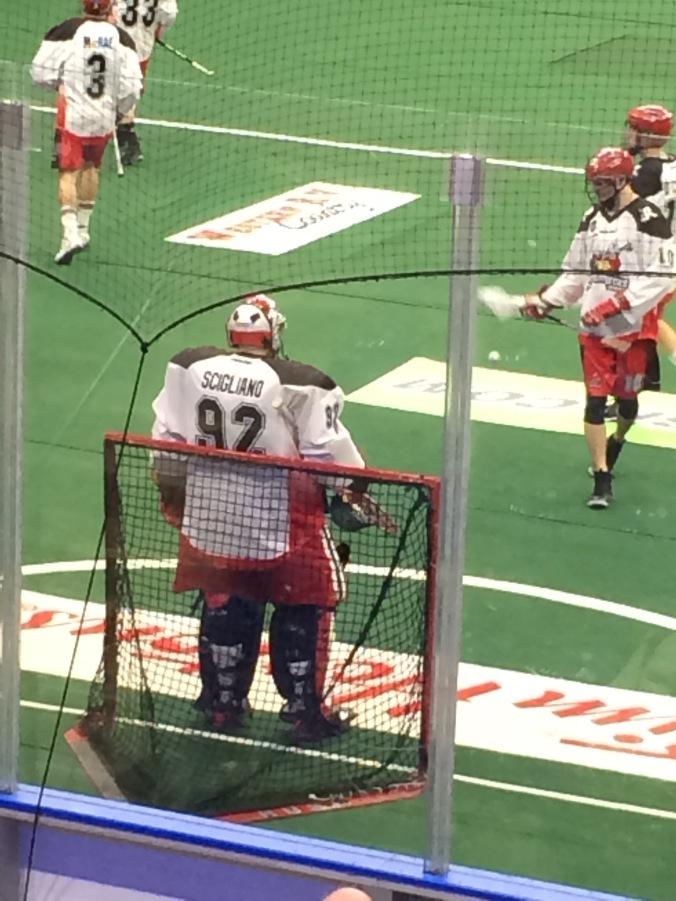 Gigantic Calgary goalie
