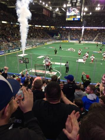 Fans celebrating first Rush goal