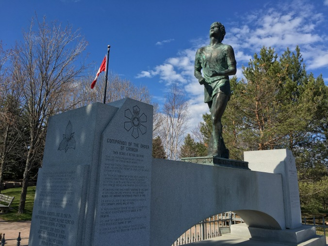 Terry Fox memorial in Thunder Bay, ON