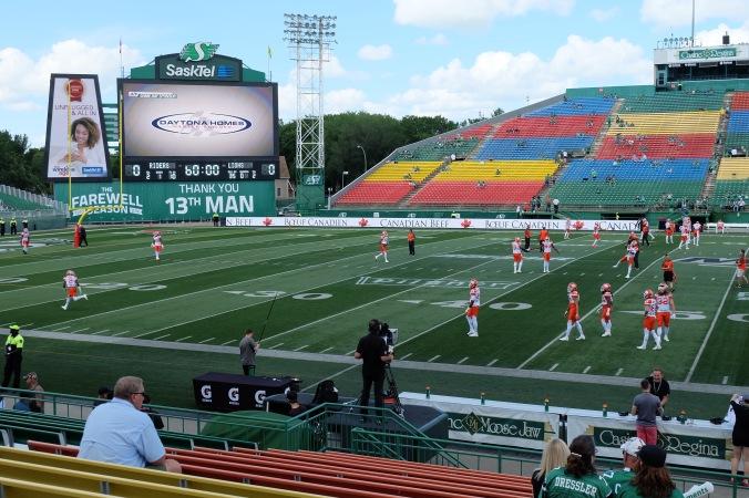 BC Lions passing drills