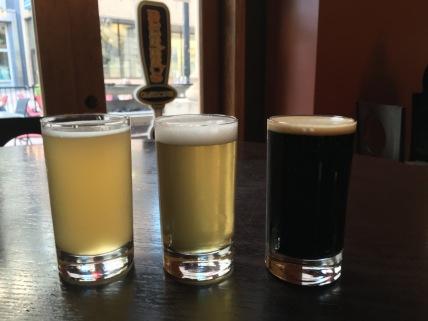 Tasting flight at Beer Brothers in Regina