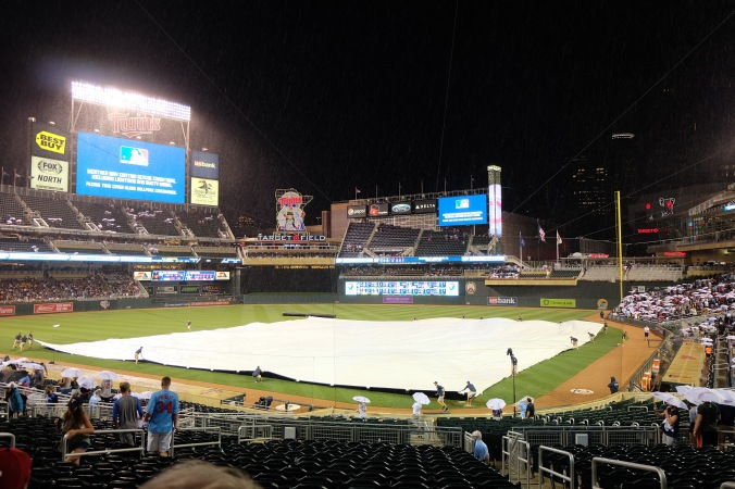 Rain delay at Twins-Astros game