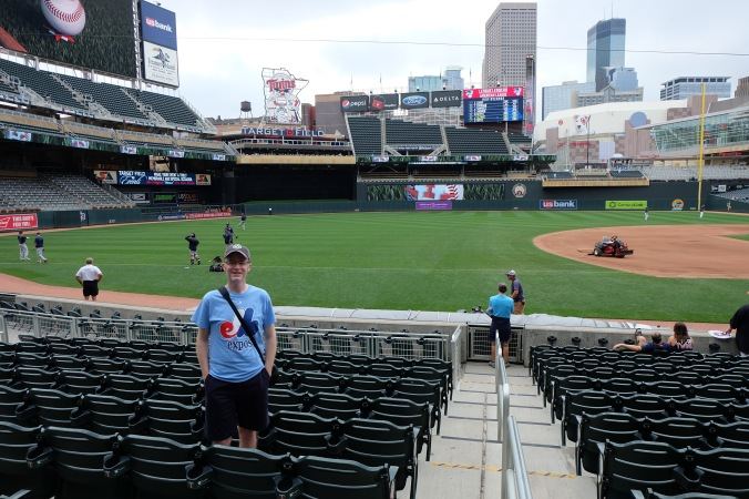 Rocking the Expos shirt at Target Field