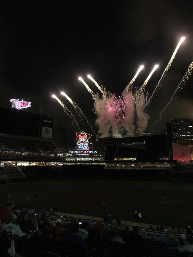 Post-game fireworks