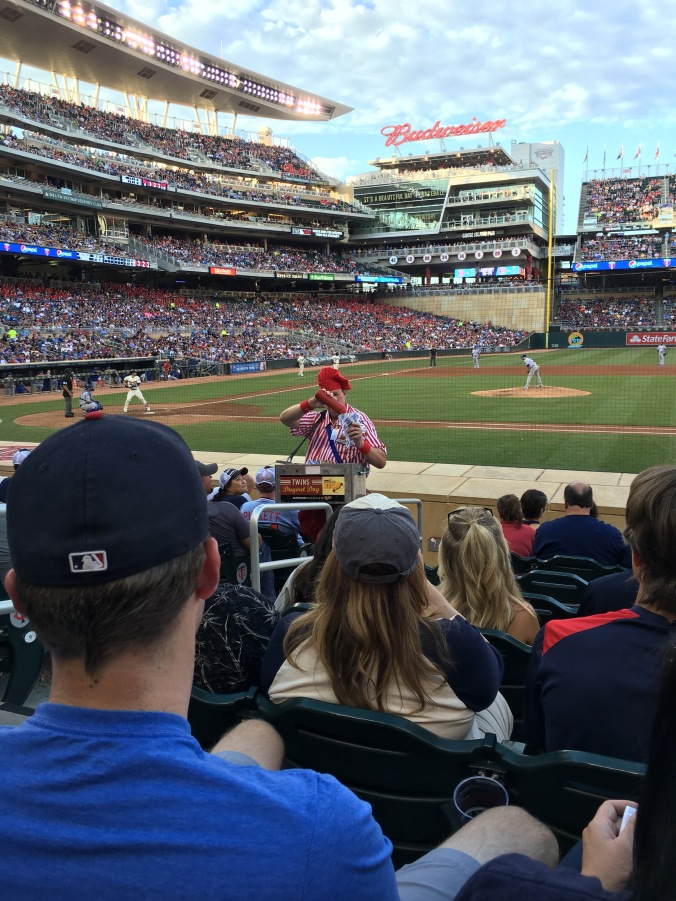 Hot dog guy at Twins game