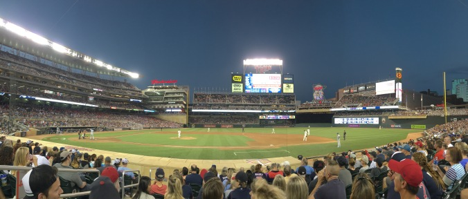 View from my seat at Target Field