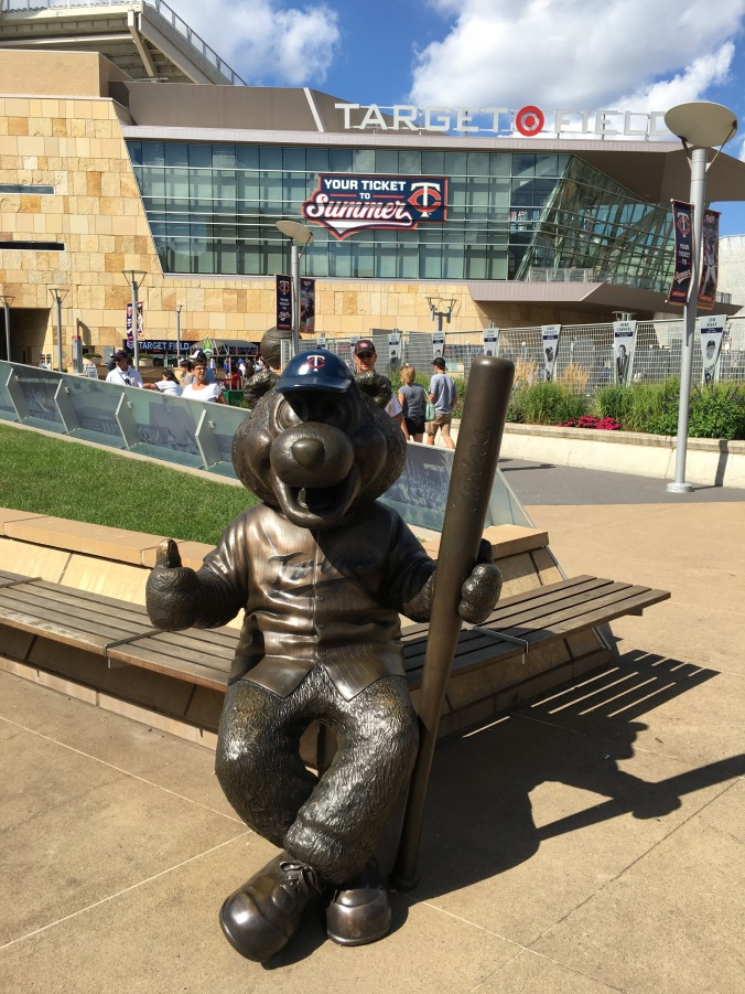 Statue of T.C., the Twins mascot