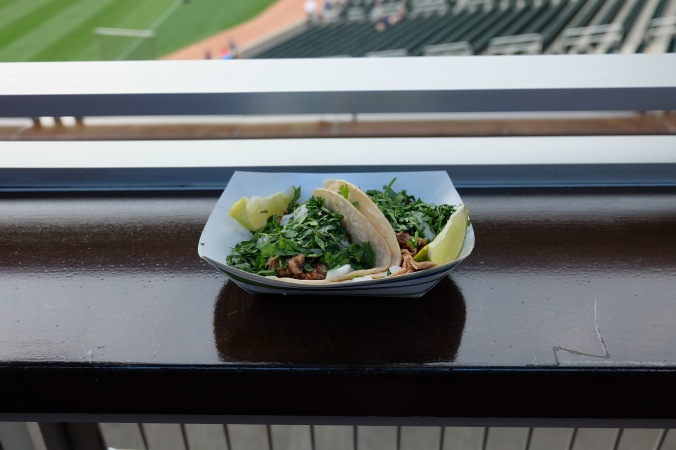 Carnitas tacos at Target Field