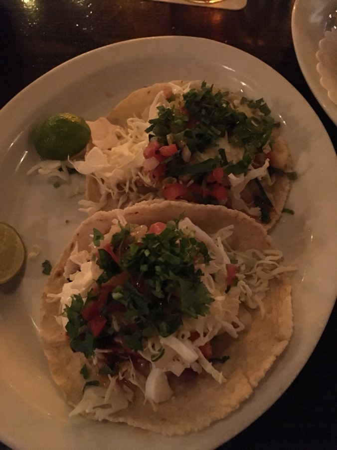 Baja fish tacos at Poquitos