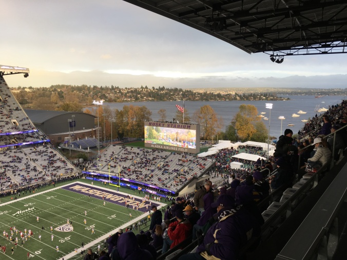 View from upper deck at Husky Stadium