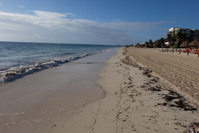 Beach walk near Puerto Morelos