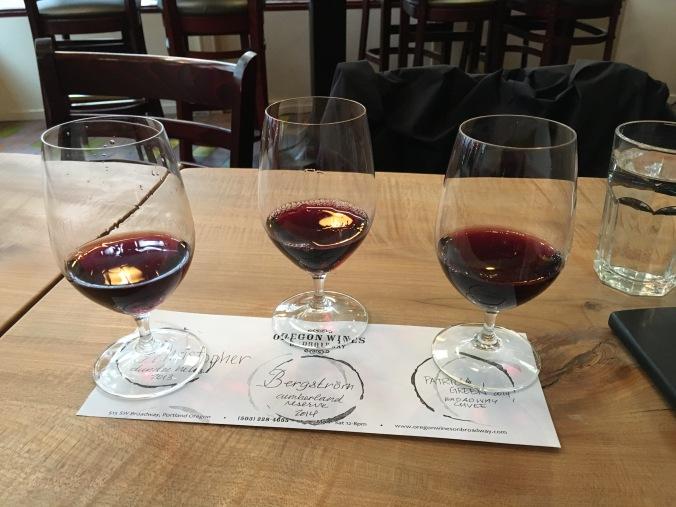 Pinot noir tasting in Portland