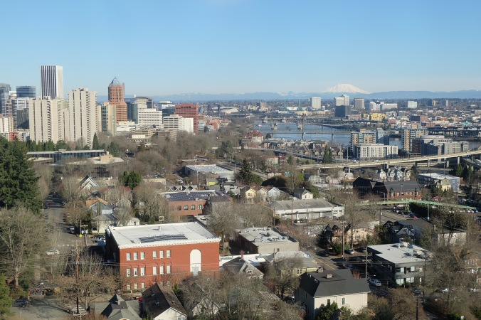 View of Portland on a clear day