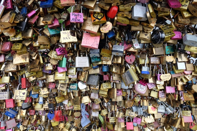 Love locks on Pont Neuf