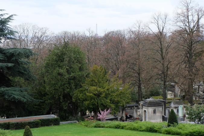 View from Père Lachaise Cemetery