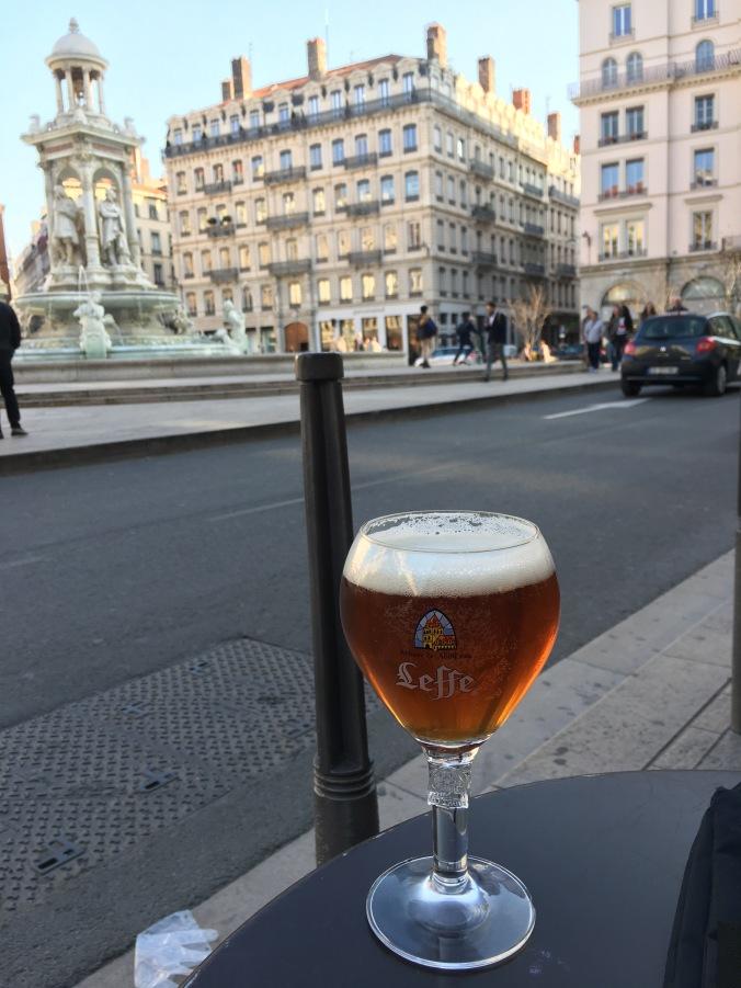 Patio beer in Lyon