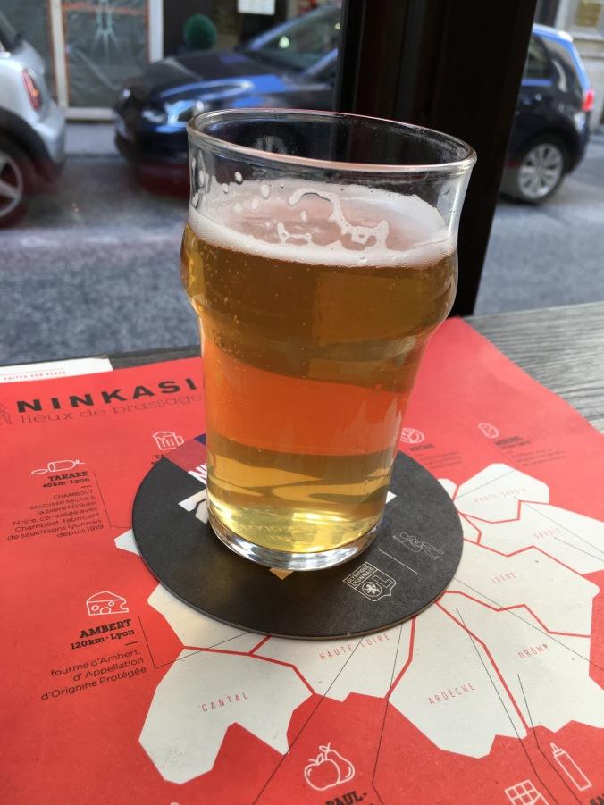 A blanche beer at Ninkasi Cordeliers