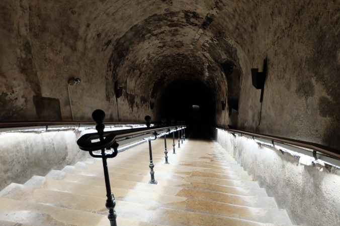 Into the cellars at Pommery