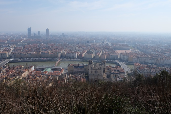 City from top of Vieux Lyon